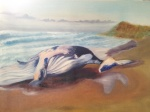 Beached on Newport in Oil on Canvas