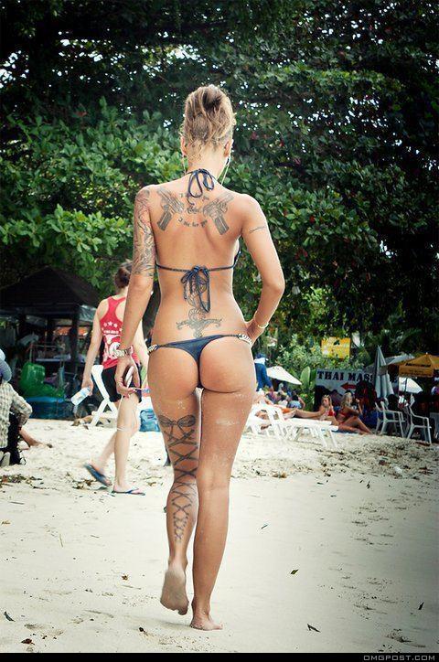 tattoo bikini babe
